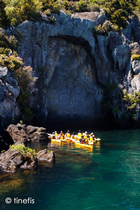 Maori Ristningar som man bara kan se fran sjon