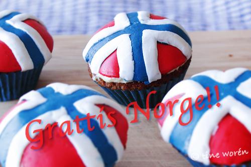 grattis på norska Norge Cupcakes   Tinefis Skrivna Ord grattis på norska